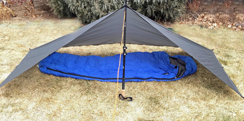 Bear Paw Wilderness Designs 6.5x9.5 Silpoly Foliage Green Tarp Tent