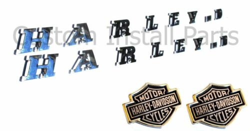 Bedside CHROME Emblem Pair Headrest Push Pin Decal for Ford F150 Harley Davidson