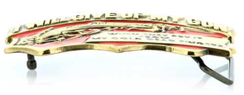 """/""""From My Cold Dead Fingers/"""" Gun Rights Solid Brass Belt Buckle"""