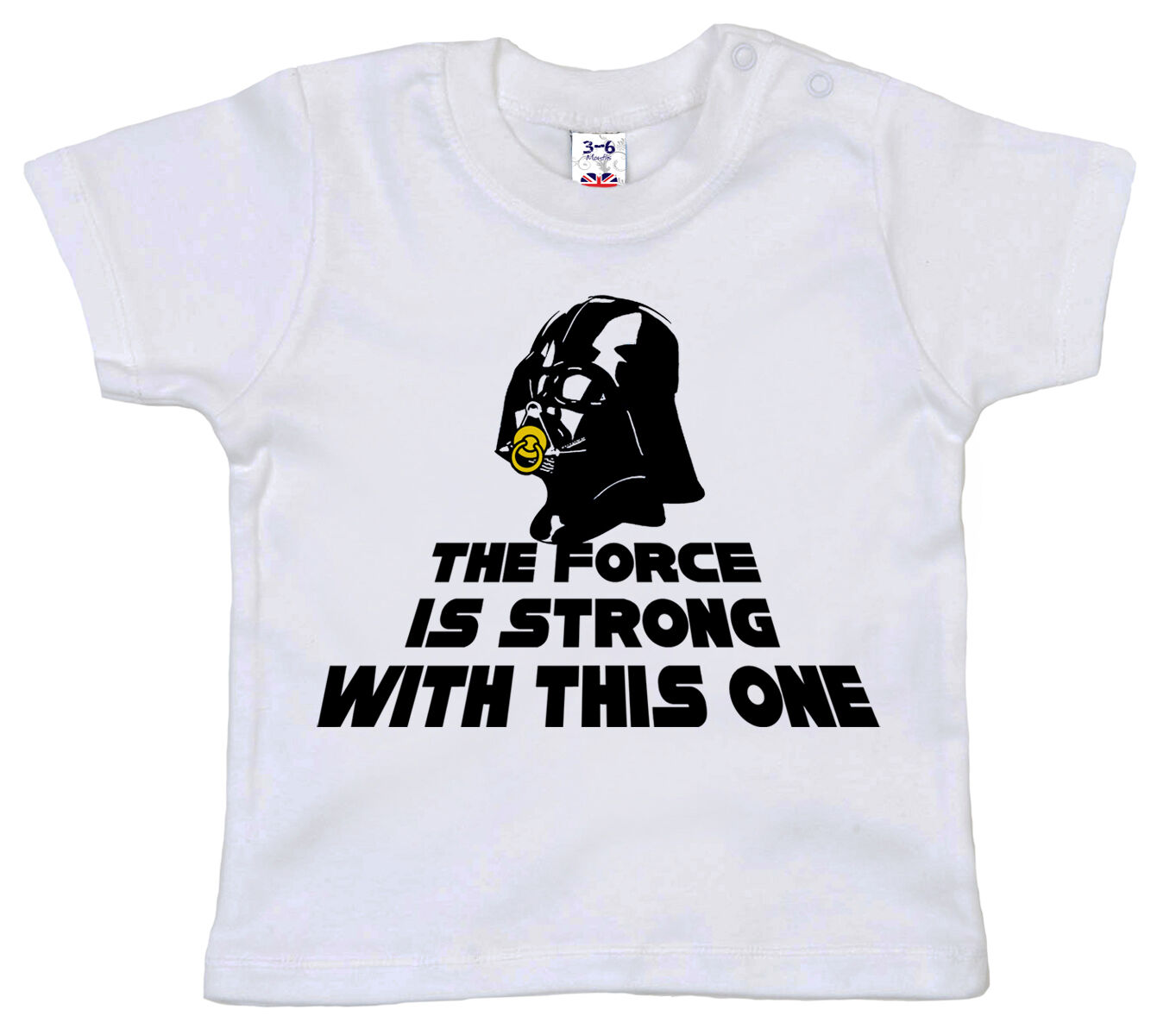 Star Wars Boys Big Vader Face Force is Strong Graphic Logo Tee
