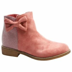 GIRLS//INFANT CHELSEA BOOTS ANKLE FLORAL SHIMMER GLITTER METAL TRIM NEW RRP £20