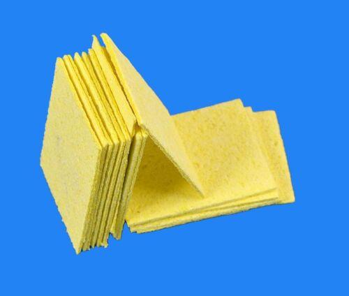 10x carrée haute température jaune éponge propre clair tin soudage fer à souder