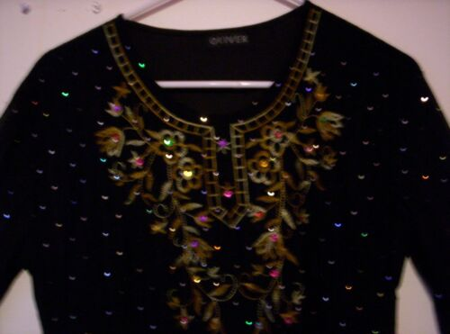 Medium 10 12 Ruffle Sleeve Embellished