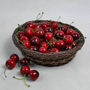 Artificial-cherry-fake-fruit-faux-food-kitchen-house-party-decoration