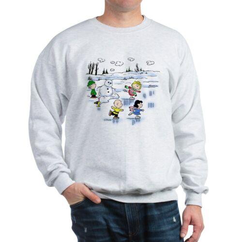 425643787 CafePress Peanut Gang Snow Scene Classic Crew Neck Sweatshirt