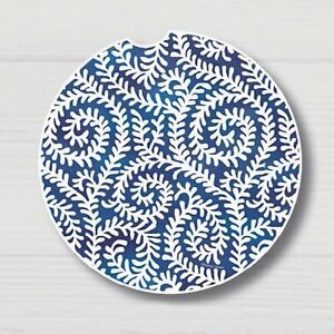 Graphic-Impressions-Indigo-Coaster-5-for-Car-or-Home-Feathered-Vein-Design-2-6-034