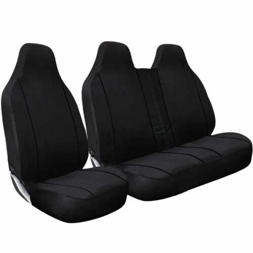 DOUBLE NISSAN PRIMASTAR ALL YEARS DELUXE BLACK PIPING VAN SEAT COVERS SINGLE