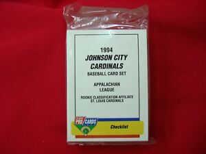 1994-JOHNSON-CITY-CARDINALS-MINOR-LEAGUE-TEAM-SET-FLEER-PROCARDS-FACT-SEAL-NICE
