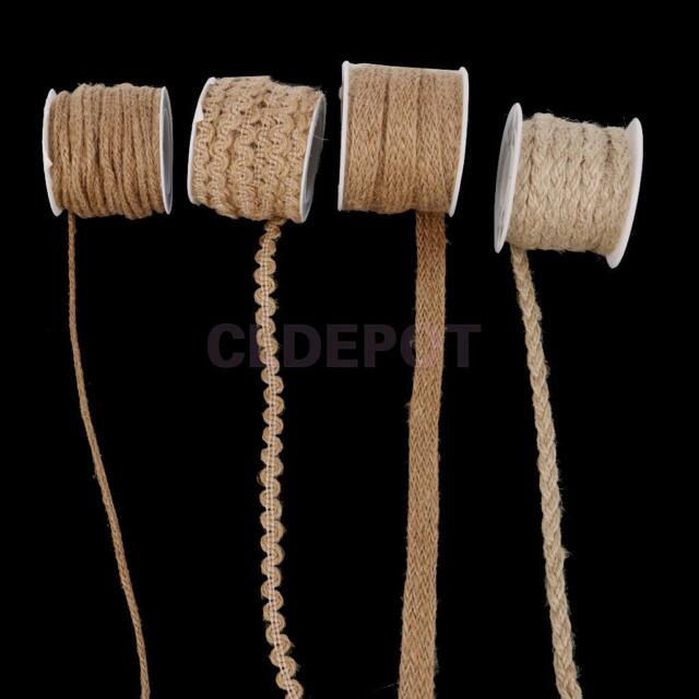 1x Rustic Rope Natural Hessian Twisted Jute Rope Wedding Craft Decoration Supply