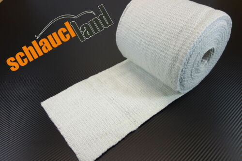5m Keramik Hitzeschutzband 200mm weiss 1200°C *** Heat Wrap Turbo Fächerkrümmer