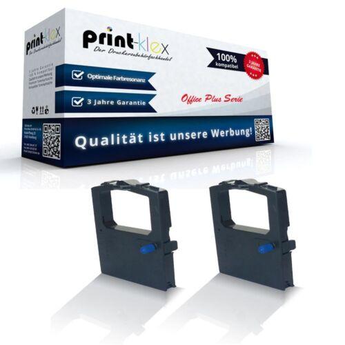 Office Plus Serie 2x Alternative Schriftbänder für OKI 09002316//ML-590 Kassette