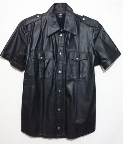 Camicia Maniche Mister Poliziotto Pelle Corte Leather In L Modello B Taglia 5PwqPHf