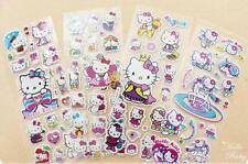 hello kity 3D Children Stereoscopic PVC Puffy Stickers 6 Sheet/lot Kids Gift toy