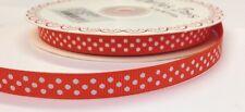 3m Bertie's Bows Orange with White Polka Dot 9mm Grosgrain Ribbon, Craft, Wrap