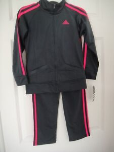 ee0918cfb7e1 ADIDAS NWT Girls 2PC Set Track Suit Jacket Pants Top Warm Up Zip ...