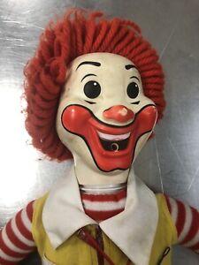 Vintage-1978-Ronald-McDonald-Clown-Doll-Hasbro-Whistle-Grimace-22-High
