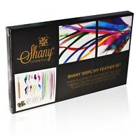 Shany Feather Hair Extension Kit - Hook/beads/feather - Grizzly - Solid - Mix