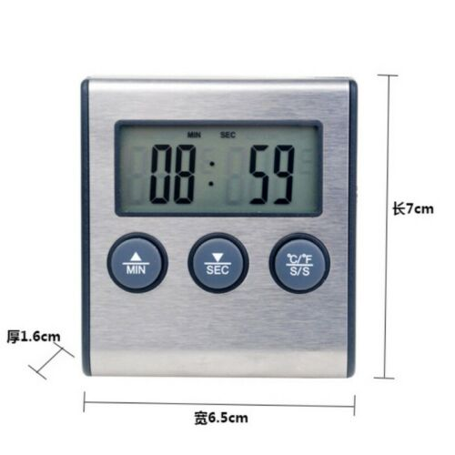 Digital Probe Meat Cooking Thermometer Timer Alarm for BBQ Food Oven Grill Tools