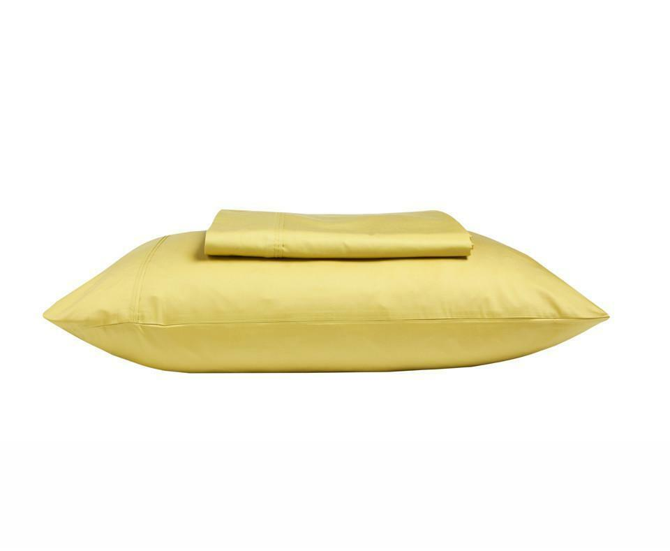 KAS 500TC 100% Egyptian Cotton Sateen Sheet Set King & Queen Size in Chartreuse