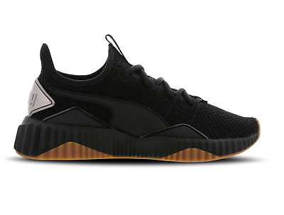 Womens PUMA DEFY LUXE Black Trainers