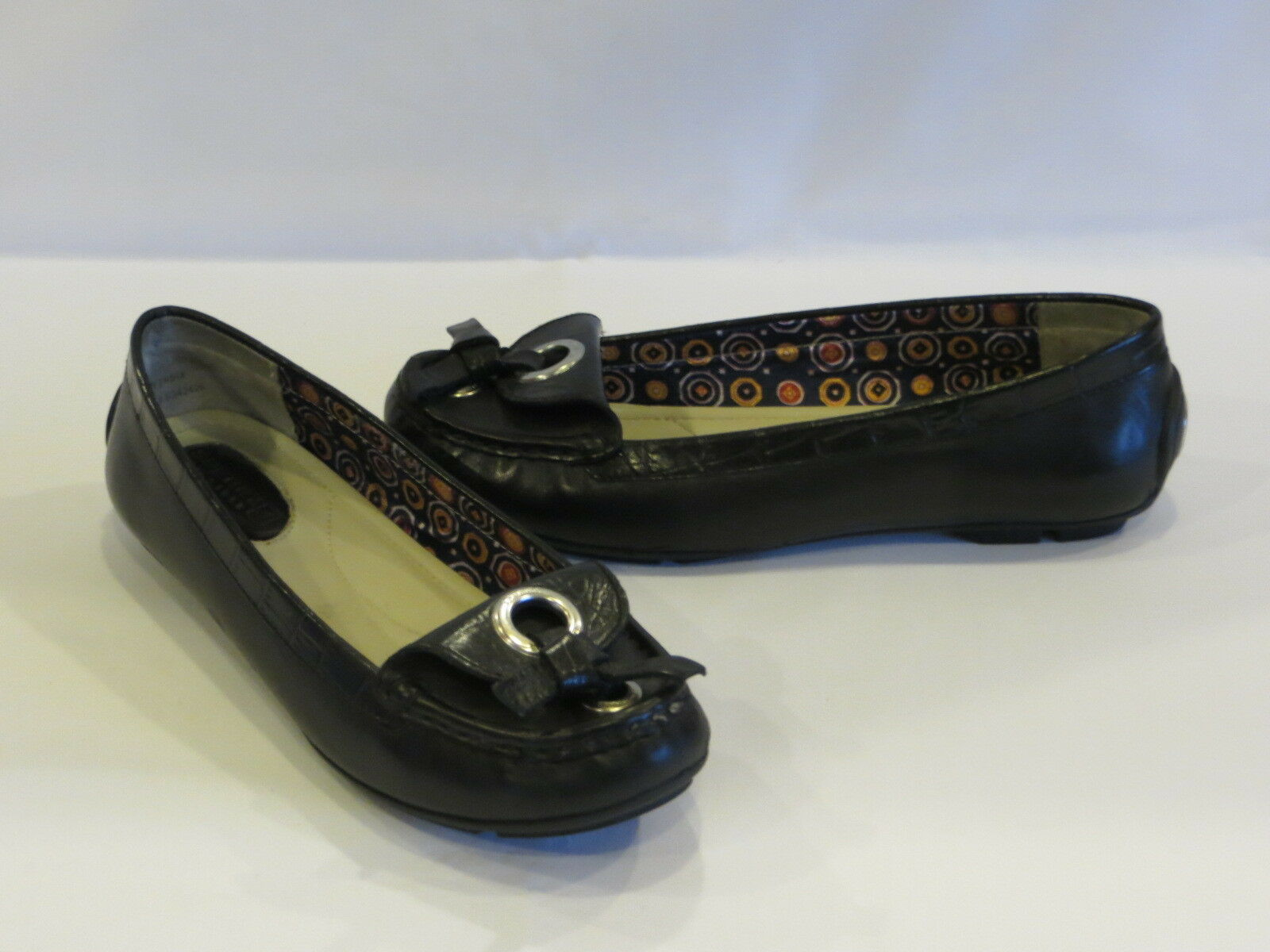 Sperry Top-Sider Black Leather Flats Moccasins 6M – GR8