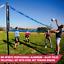 Volleyball Set Official Size Net Ball Poles Outdoor Team Sports Beach Park NEW