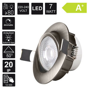 1-X-LED-Lampada-da-Incasso-Faretto-a-Incasso-230V-7W-Dimmerabile
