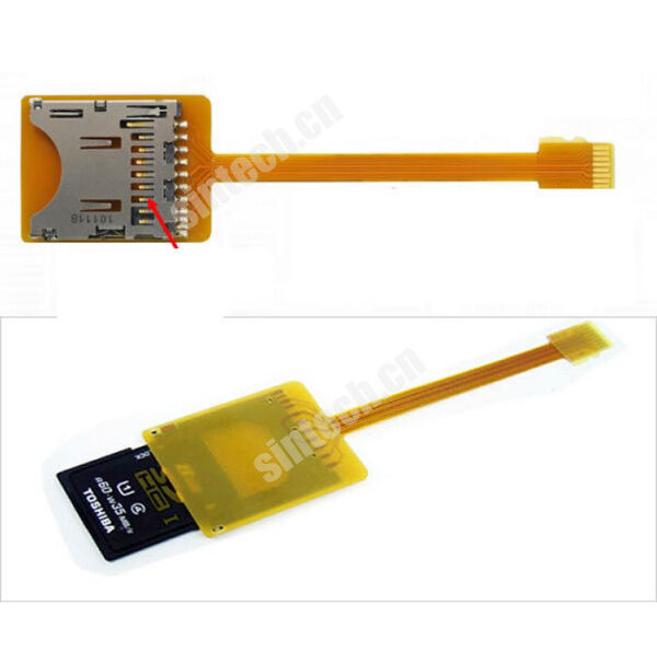 Sintech SDHC/SD card to micro SD TF extension adapter FPC cable for mobile phone