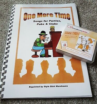"new styles /& registrations Genos USB book set /""ONE MORE TIME...SINGALONG!/"""