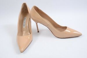 Manolo-Blahnik-BB-nude-9-39-patent-leather-pointed-to-slip-on-pump-shoe-625