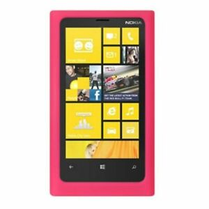 For-Nokia-Lumia-920-Rubber-Silicone-Skin-Gel-Rubber-Case-Cover-Hot-Pink