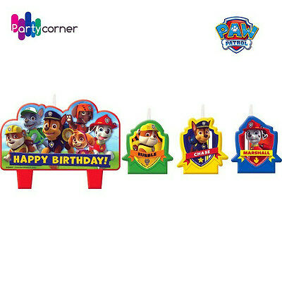 PAW PATROL PARTY SUPPLIES CANDLE MINI MOLDED PACK OF 4