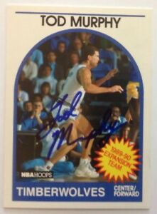 Tod Murphy Hand Signed 1989 Hoops Card Minnesota Timberwolves RACC