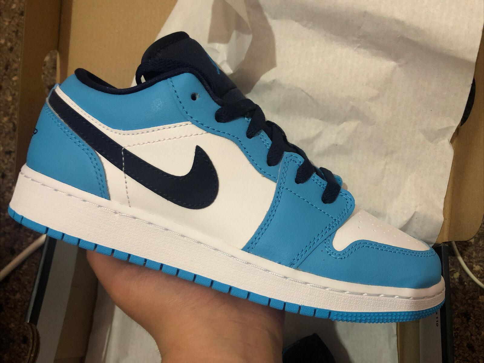 Nike Air Jordan 1 Low GS UNC (University Blue/Obsidian) - Size UK6 - New