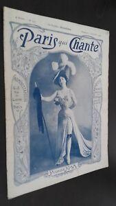 Rivista Settimanale per Lettera Parigi Che Canta N°190 Settembre 1906 ABE