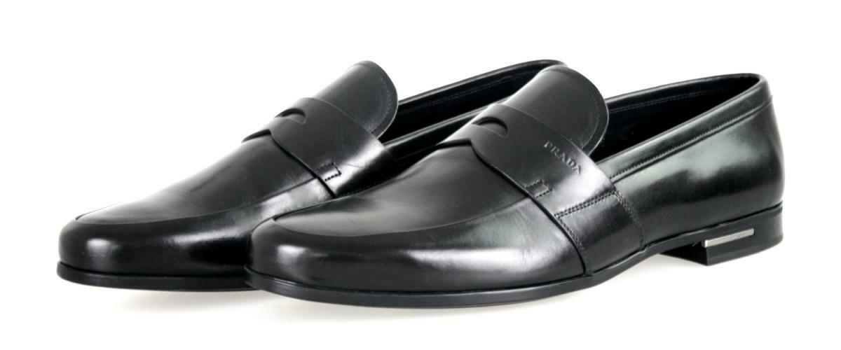 LUXUS PRADA BUSINESS SCHUHE PENNY LOAFER 2DE010 black NEU NEW 10,5 44,5 45