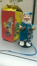 VINTAGE GERMAN GDR SONNI CIRCUS CLOWN PLAYING CYMBALS TOY SPRING CABLE ORIG.BOX