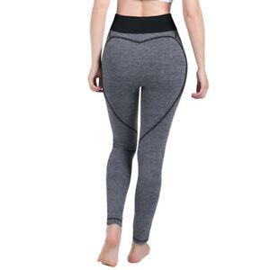 Women High Waist Yoga Fitness Leggings Running Gym Sport Pants with AMUZE logo
