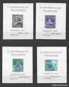ESPANA-Edifil-1344-1347-MNH-HB-Velazquez-1961