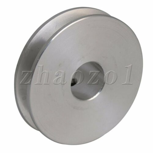 3-5MM PU Round Belt Boss V Groove Step Pulley Aluminum Alloy Silver 41x12mm