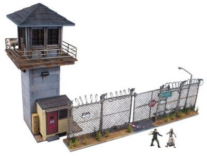 The Walking Dead TV Prison Tower and Gate Building Set Kids Toys Playroom New