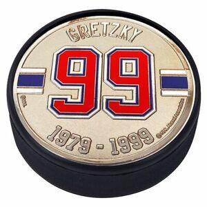 Wayne-Gretzky-Edmonton-Oilers-3D-Textured-Silver-Plated-Medallion-Hockey-Puck