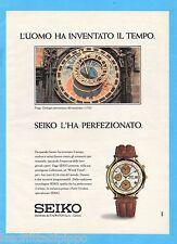 QUATTROR992-PUBBLICITA'/ADVERTISING-1992- SEIKO - WORLD TIMER