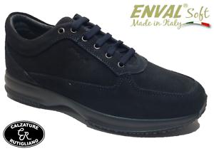 89103 Scarpe Pelle Soft Blu Scamosciata Sneaker Enval Uomo Plantare Estraibile 5xzcO