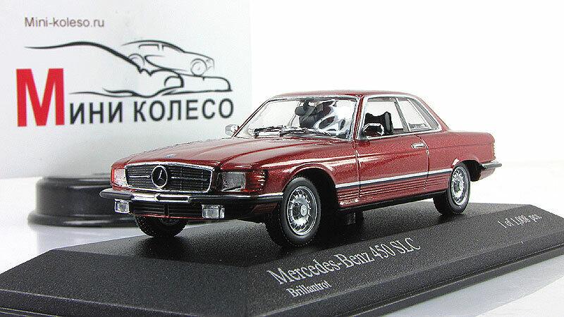Scale car 1 43, Mercedes-Benz 450SLC (R107) 1974 rot Metallic