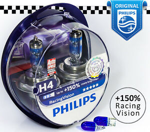 new h4 philips racing vision 150 light car headlight. Black Bedroom Furniture Sets. Home Design Ideas