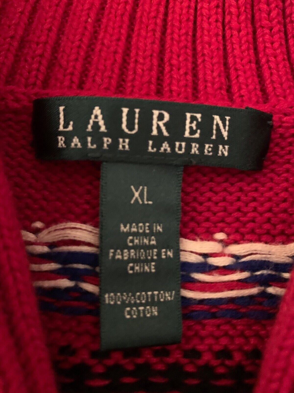 Lauren Ralph Lauren Classic Red Sweater - image 3