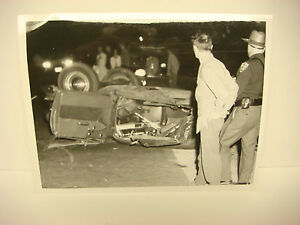 Details about Vintage Car Wreck Photo NH Accident Scene 1960 Chevy's  Overturned Fatal? PP047