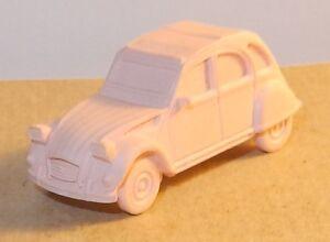 MICRO EURO MODEL HO 1/87 CITROEN 2CV BERLINE GOMME COLLECTOR couleurs au choix