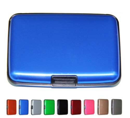 Aluminum Wallet Credit Card Holder Case for Men /& Women With RFID Protection